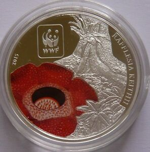 RAFFLESIA-WWF-color-silver-plated-Coin-100-Francs-Central-African-Republic-2015
