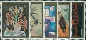 French-Polynesia-1974-Sc-C107-C111-SG189-193-Paintings-set-MLH