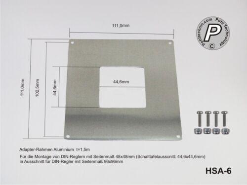Adaptador marco para instalación regulador 48x48mm a 96x96mm