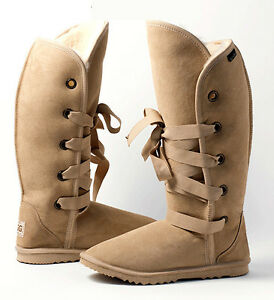 dance tall roxy lace up ugg boots 42cm 16 4 high premium rh ebay com