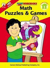 Math Puzzles & Games, Grade 3 (Home Workbooks)