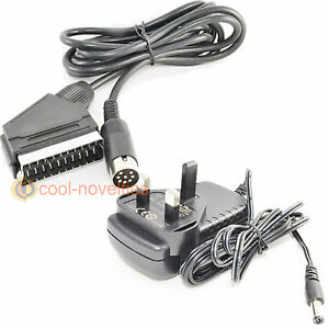 AMSTRAD CPC 464 & 6128 + (PLUS MODELS) TV CONNECTION KIT - PSU ADAPTER & SCART