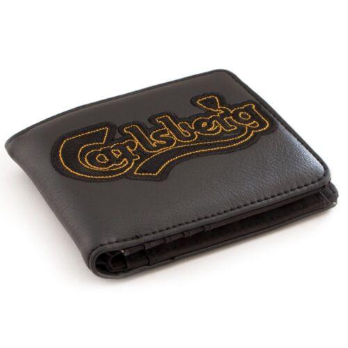 Portafoglio Carlsberg nero con ricamo
