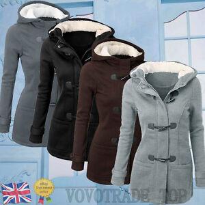 Womens Ladies Hooded Jacket Winter Windbreaker Outwear Warm Slim Long Coat