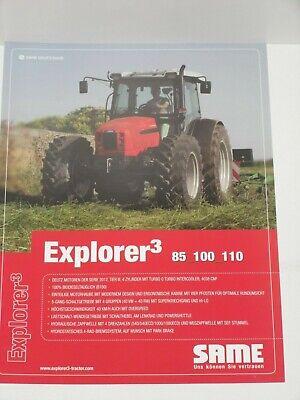 2005 SAME Explorer³ 85/_100/_110 Traktoren Prospekt von 02//2009