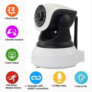 hd 720p p2p wifi ip camera 2 way audio baby monitor video recording night vision ebay. Black Bedroom Furniture Sets. Home Design Ideas