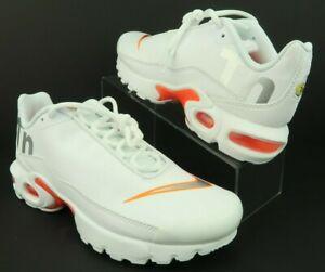 Details about Nike AR0005 100 Air Max Plus TN SE Big Logo White Silver Orange, 6Y, Women's 7.5