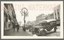Vintage Photo 1936 Ford Panel Truck w/ Christmas Street Scene 769109