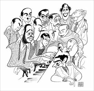 Al-Hirschfeld-039-s-GREAT-AMERICAN-SONGWRITERS-Hand-Signed-Limited-Ed-Lithograph