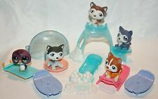 Littlest Pet Shop Winter Husky lot Accessory  #210 #1217 #427 #341 Plus Penguin