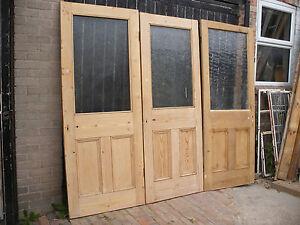 Image is loading Reclaimed-Victorian-or-Edwardia-stripped-pine-glazed- unglazed- & Reclaimed Victorian or Edwardia stripped pine glazed / unglazed ...