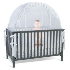 Baby-Crib-Tent-Safety-Net-Pop-Up-Canopy-Cover-for-Baby-Crib-Never-Recalled