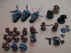 D10C40-LOT-SPACE-MARINE-DARK-VENGEANCE-WARHAMMER-40000-2012-USED-PAINTED