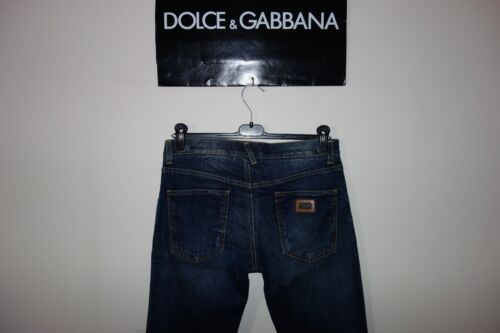 Label Dolce Plate in Jeans Made Italy Faded gabbana 44 Black 14gold Logo XrErSq