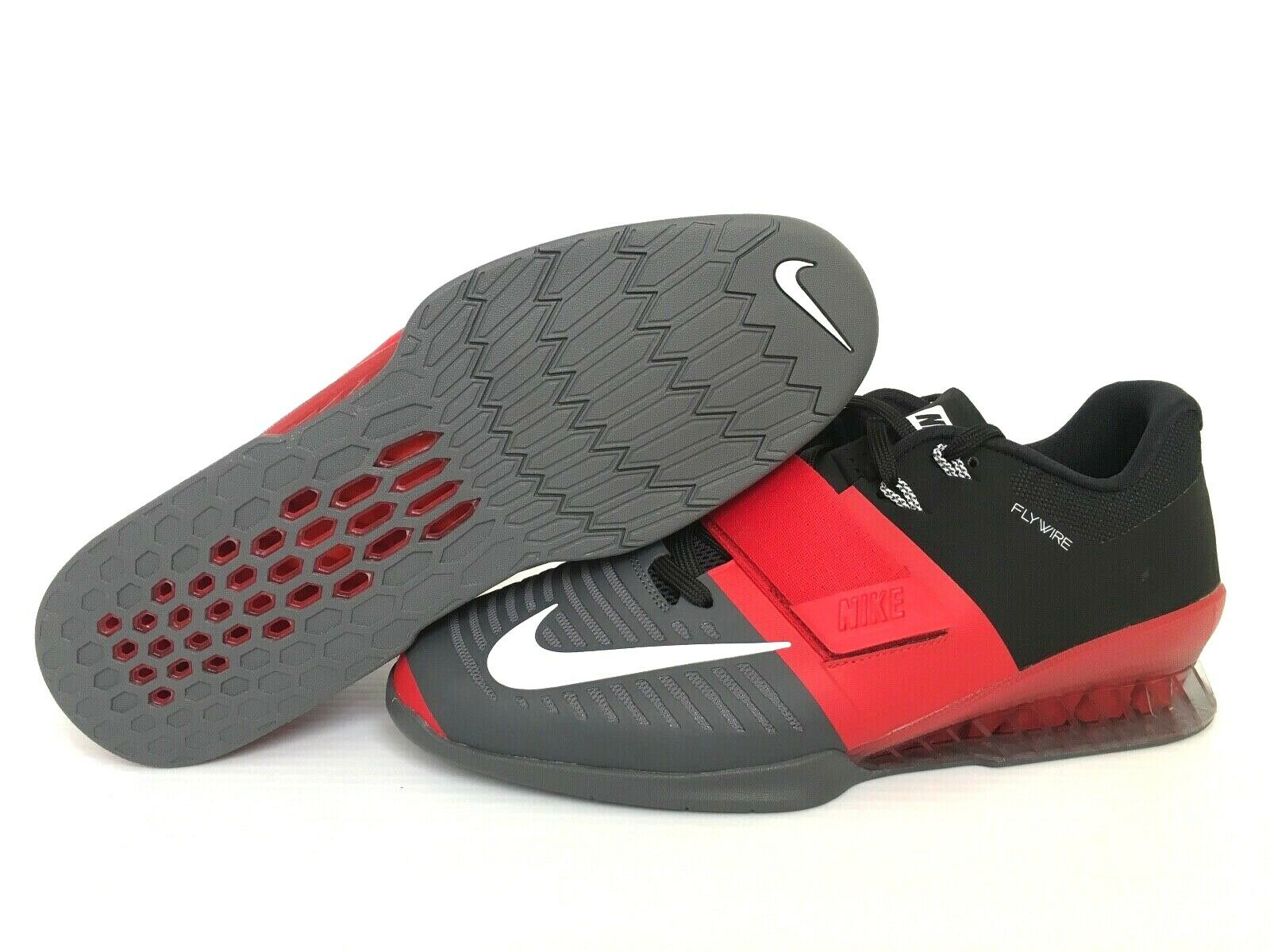 Nike Romaleos 3 Weightlifting CrossFit shoes Mens Size 11.5 Red Grey 852933-600