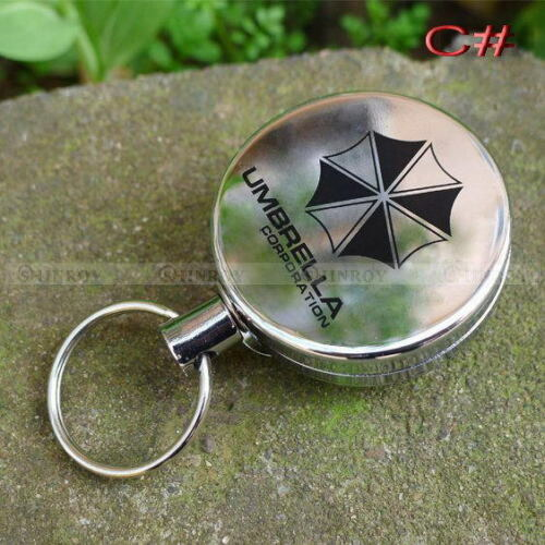 Easy Retractable Metal Key Chain Card Badge Holder Steel Recoil Ring Belt Clip