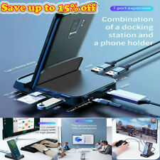 Type-C Extension HUB HDMI USB SD/TF Docking Station for PC Phone Power Adapter