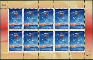 Australia-1999-SG1902-Olympic-Games-Sports-sheetlet-of-10-MNH