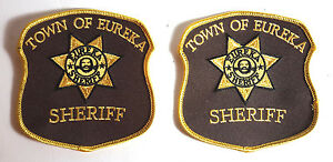 "Eureka Sheriff 4"" Uniform/Costume Patch Set of 2 (EUPA-01)"