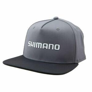 SHIMANO-LOGO-WELDED-FLATBILL-FISHING-CAP-HAT-MENS-OSFM-GREY