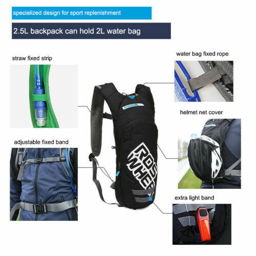 Cycling Rucksack 1.5//2L Hydration Backpack Water Bladder Bicycle Shoulder Pack