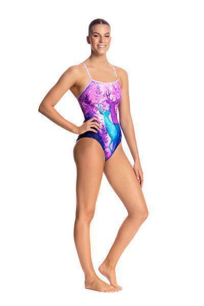 Funkita Forest Fawn Fawn Fawn Single Strap one piece 19ae4e