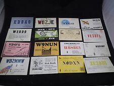 Lot of 16 Different Vintage Ham amateur radio Call Cards QSL QSO Postcards #12