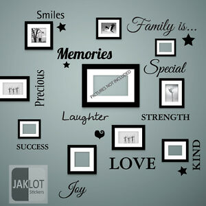 Family Is Words Wall Art Quote Vinyl Decal Stickers For