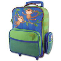Stephen Joseph Kids Rolling Wheels Luggage Trolley Travel Bag - Monkey Gift