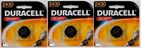 3new Duracell 2430 Security Medical Fitness Electronic 3 Volt Lithium Battery