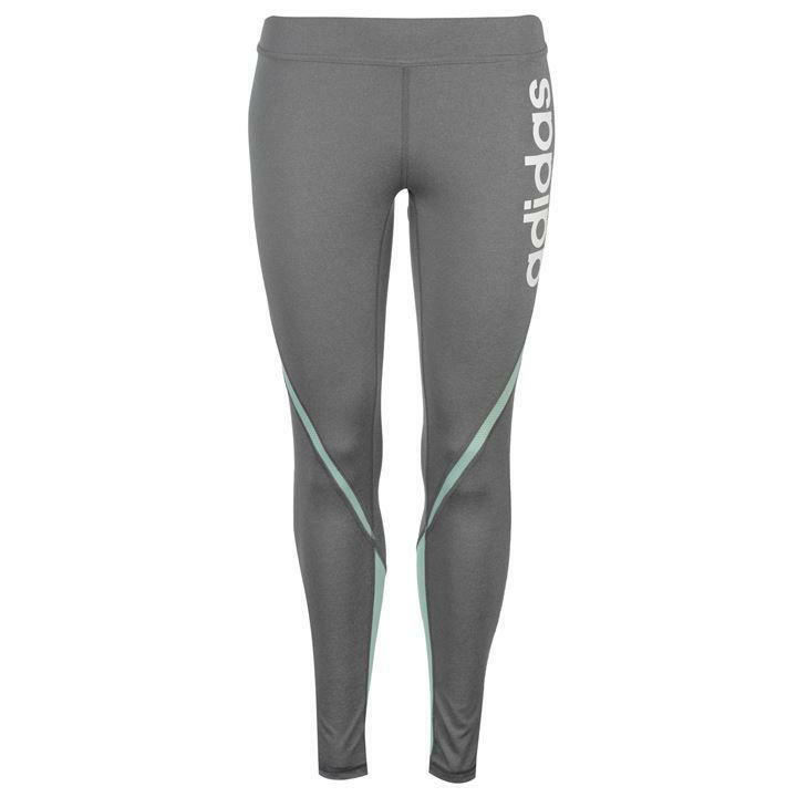 Adidas Linear Training Tights Ladies (S) Grey Mint