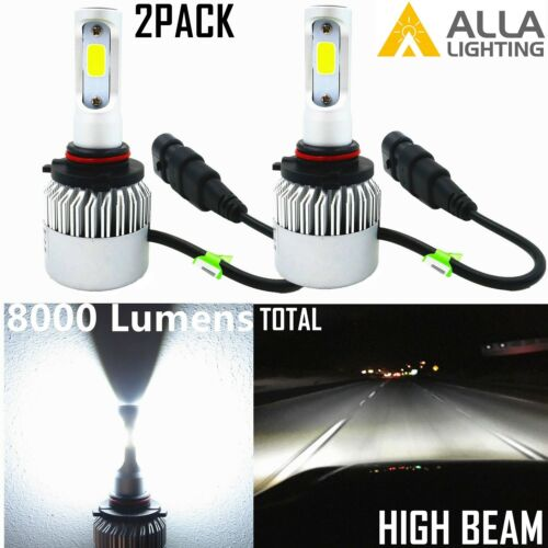 Alla Lighting 8000LM COB-LED 9005 HB3 Headlight High Beam Bulb Lamps Xenon White