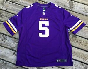 Teddy-Bridgewater-Jersey-Nike-On-Field-Home-Vikings-Jersey-XXL-2XL-NFL