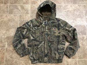 Mossy-Oak-Boys-YOUTH-XL-Hunting-Jacket-Hooded-Bomber-Turkey-Hunting-Cotton