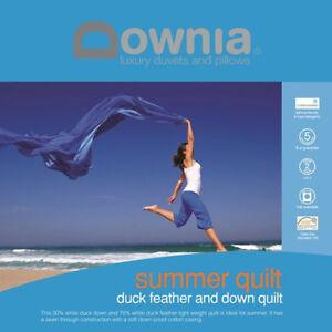 Downia-Summer-Lightweight-Duck-Down-amp-Feather-Quilt-Doona-Duvet-SUPER-KING-Size
