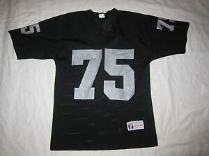 online retailer 4745d 9dff3 Details about Vintage Oakland Raiders #75 Howie Long Logo 7 Football Jersey  Medium nwa la m