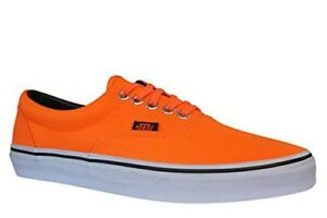 Details about Mens Womens Vans Neon Orange Canvas Lace Up Trainers