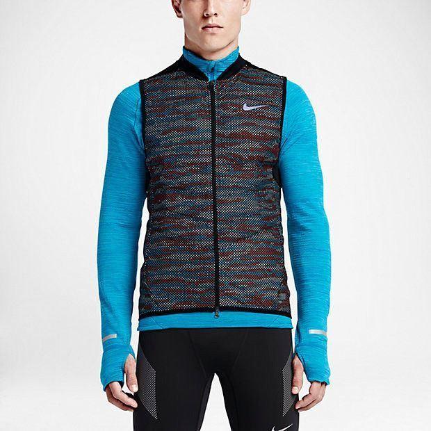 d2eabaabe Nike Mens 800 Aeroloft Flash Reflective Running Vest Size XL 689168 011