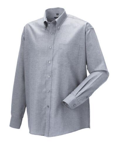 Russel Uomo Camicia Manica Lunga Camicia facile da pulire S 3xl 4xl 5xl 6xl misure grandi