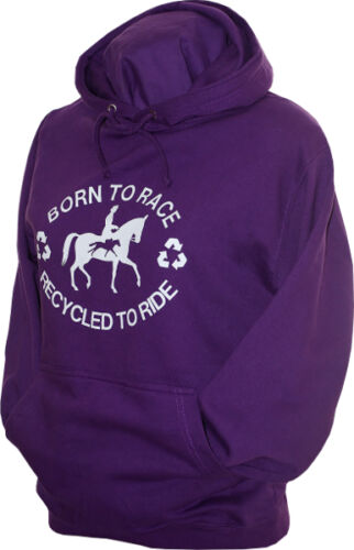 equestrian Recycled to ride ladies girls hoodie