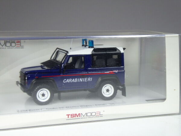 (ki-09-19) True Scale Models Tsm Land Rover Defender 90 Carabiniers 1:43 Dans Neuf Dans Sa Boîte