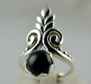 Black-Onyx-Ring-925-Solid-Sterling-Silver-Handmade-Jewelry-UK-BON-002