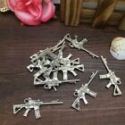 Charm 6pcs Cool Fashion Gun Tibet Silver Pendant Fit for Bracelet Necklace PJA22