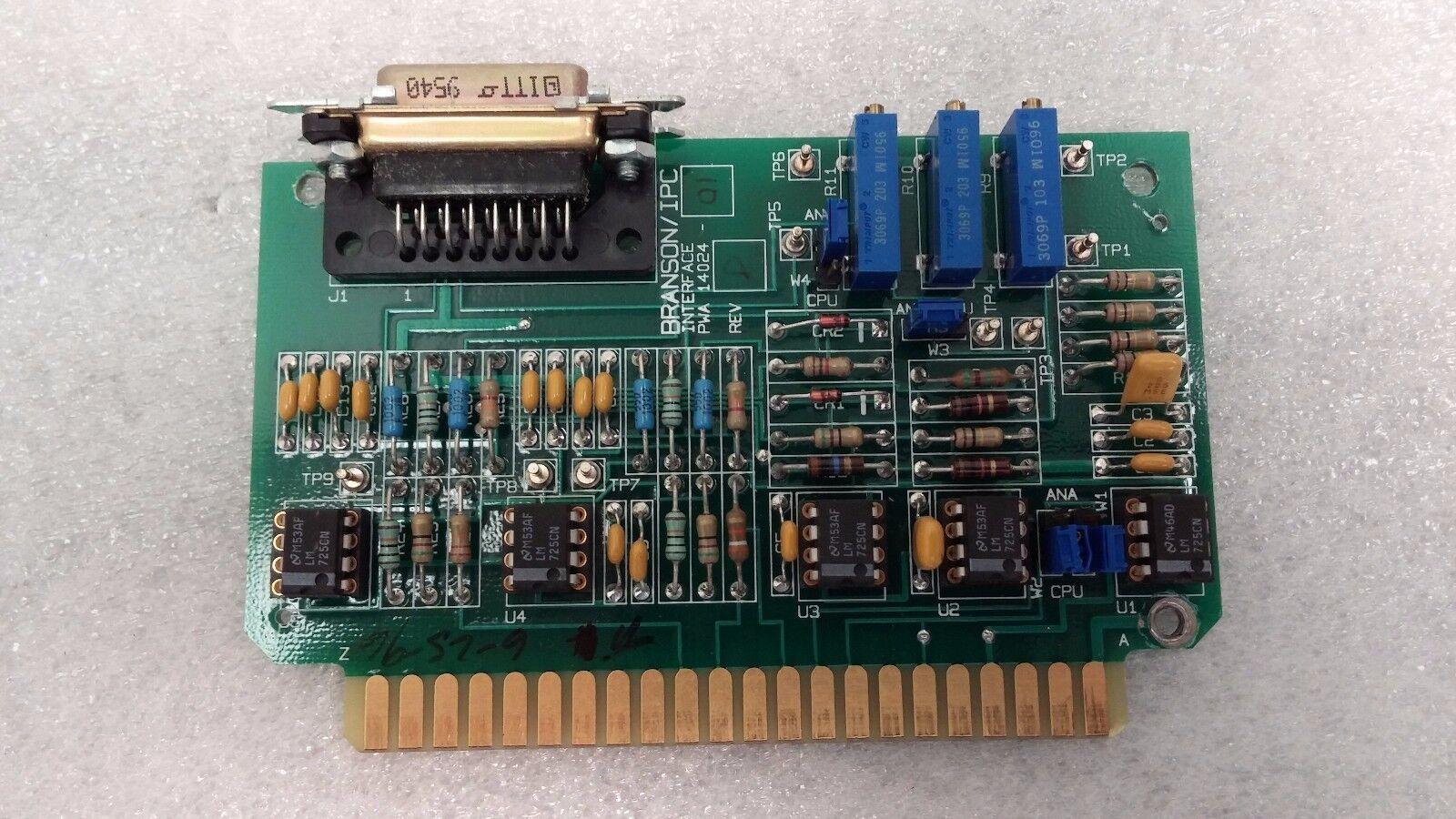 Branson   IPC  PWA 14024-01 Rev D Interface Card
