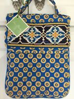 Vera Bradley Retired Rare Riviera Blue Out To Lunch Bag Green Tag Only