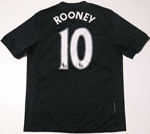 Manchester United 2009/2010 away football shirt jersey Nike Rooney #10 Taglia M
