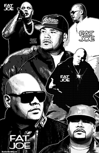 "Fat Joe  11x17  /""Black Light/"" Poster"