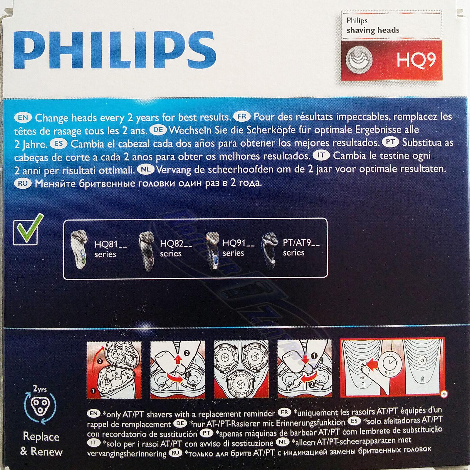 Philips Scherkopf HQ9 50 Speed XL SmartTouch HQ9100 PT920 8250 9190 9170 9160