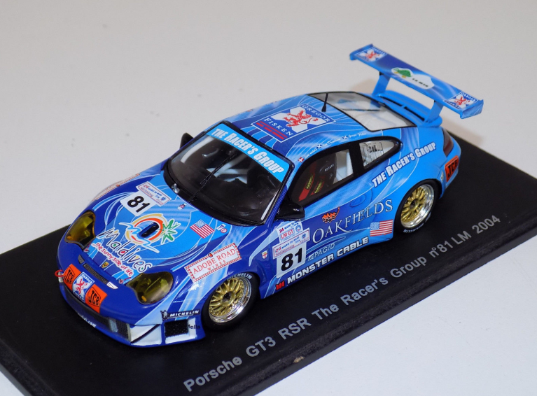 Porsche 911 GT3 RSR n°81 LM 2004 The Racers Group S0922 1 43 Sparkmodel