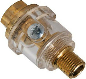 "Brass Mini In-Line 1//4/"" Oiler Air Hose Lubrication for Air Tools Compressor"